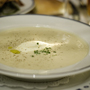Parsnip Soup with Orange Cr&eacute;me fra&icirc;che